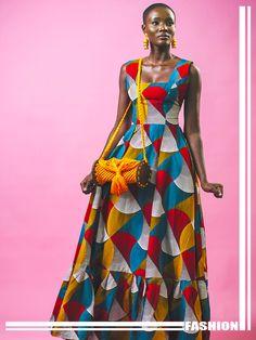 Kenya Dress at Diyanu African Attire, African Wear, African Dress, African Print Fashion, African Fashion Dresses, Dress Fashion, African Fashion Traditional, Marni Dress, Khaki Dress