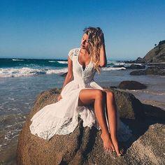 Instagram media turquoiselane_shop - Mermaid @tashoakley looking dreamy in the Spell Wild Belle Gown ✔️    link in our bio  #spelldesigns