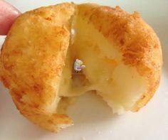 Receta fácil de albóndigas de patatas con queso por dentro