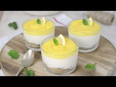 How to Make a Lemon Mousse Lemon Mousse, Cake Flavors, Healthy Sweets, Fabulous Foods, Sin Gluten, Cheesecakes, Fondant, Panna Cotta, Food And Drink