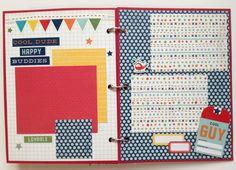 Scrapbook for Boy Premade Album 6x8 Toddler Boy by ArtsyAlbums, $39.99