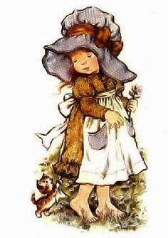 O charme e a delicadeza dos desenhos mais fofos dos anos 80 - as bonequinhas Sarah Kay e Holly Hobbie encantaram a infância de muitas garotas