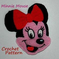 Crochet Pattern. Applique. Minnie Mouse