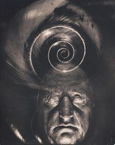 "Edward Steichen - ""Mask of Goethe and Spiral"". 1932"
