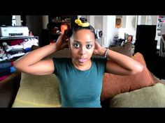 Bantu Knot Out on Blowdried, Relaxed Hair