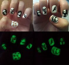 These #glow in the dark nails would be so perfect for #Halloween!