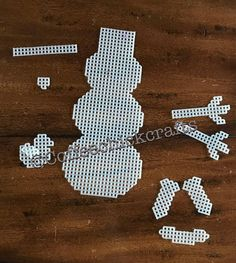 Make a Snowman Plastic Canvas Cut Outs  Plastic Canvas Snowman
