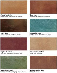I like the Red Stain~Kemiko Stone Tone Acid Stain Concrete Floor Color Stains Home Design, Floor Design, Concrete Color, Stain Concrete, Concrete Overlay, Stained Concrete Countertops, Cement Floors, Concrete Finishes, Plywood Floors