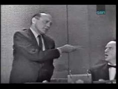 Jack Benny as the mystery guest on 'What's My Line?'