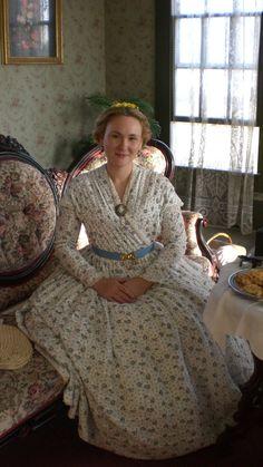 1860s crossover dress civil war era