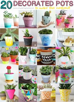 flower pots outdoor 20 Decorated Pots to make this weekend! Paint Garden Pots, Painted Plant Pots, Painted Flower Pots, Painting Terracotta Pots, Painted Pebbles, Garden Plants, Flower Pot Crafts, Clay Pot Crafts, Flower Pot Design