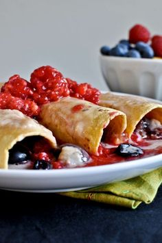 Fresh fruit enchiladas
