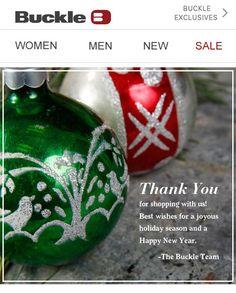 Vera Bradley  Holiday Letter  Email Design  Inspiration