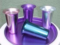 Aluminum Drinking Glasses!! My grandma had these!