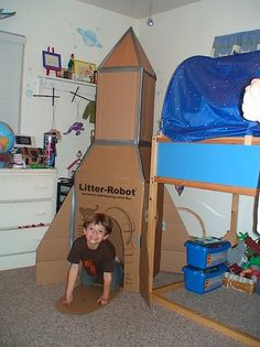 Carboard Rocket Ship