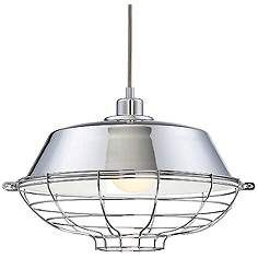 "Eurofase London 14"" Wide Chrome Pendant Light"