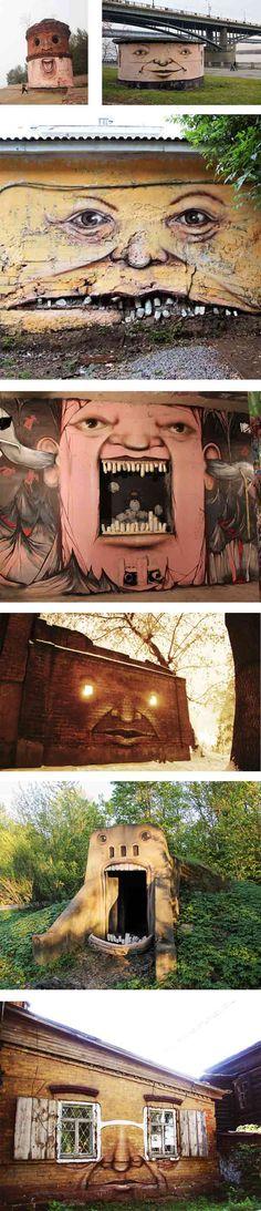 Arte urbano - Los muros expresivos de Nikita Nomerz