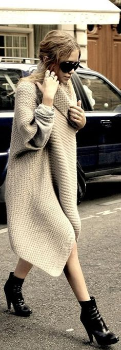 Probably some famous person that I don't know - but I love her sweater dress thingy.