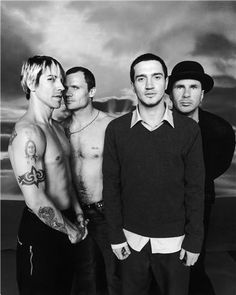 red hot chili peppers(1988 -1992 , 1998 -2009) Anthony Kiedis Flea Chad Smith John Frusciante That is one sexy sexy band!
