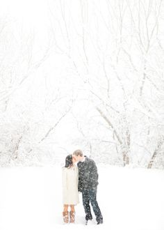 snow and kisses. the best.