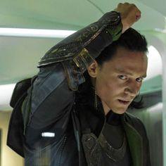 Tom Hiddleston as Loki.  Love me the bad boy!