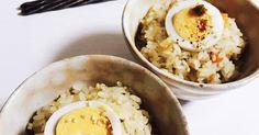おでんのお汁は具材の旨味がいっぱい! 1/3をもち米を加えることで、もちもちホカホカおこわが出来上がります!