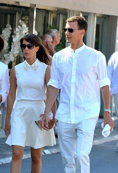 Prince Joachim and Princess Marie of Denmark on holiday in Saint Tropez July 2014