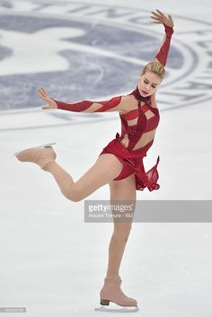 Anna Pogorilaya of Russia competes in the ladies's short program during the day one of the NHK Trophy ISU Grand Prix of Figure Skating 2015 at the Big Hat on November 27, 2015 in Nagano, Japan.