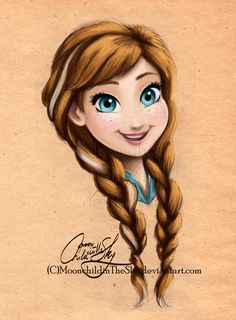 Anna Portrait by MoonchildinTheSky.deviantart.com on @deviantART