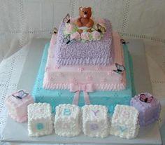 cake w blocks....cute.