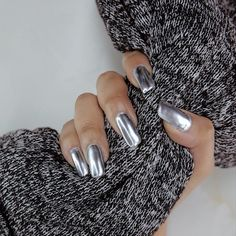 Metallic Nails Ultimate Easy Holiday Nail Art Designs For All Occasions Nail Art Designs 2016, Cute Nail Art Designs, Holiday Nail Art, Christmas Nail Art, Acryl Nails, Metallic Nails, Instagram Nails, Nail Games, Prom Nails