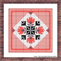 Square cross stitch pattern traditional by CamisTheCrossStitch