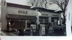Kirshberger's gulf gas station, Clarksville, Arkansas
