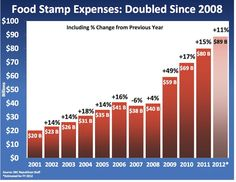 RECOVERY????   Food stamp expenses more than DOUBLED under Obama! Citizens suffering & need HELP!   #PJNET #TCOT