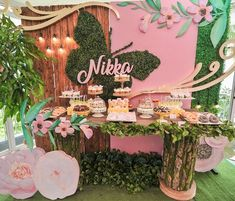 Nikka's Dainty Enchanted Forest Themed Party – Sweet treats - - Butterfly Garden Party, Butterfly Birthday Party, Butterfly Baby Shower, Garden Birthday, Fairy Birthday Party, Birthday Party Decorations, Party Themes, Table Decorations, Fairy Baby Showers