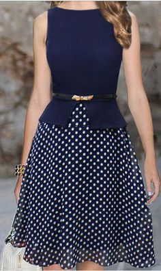 polka dot skirt dress
