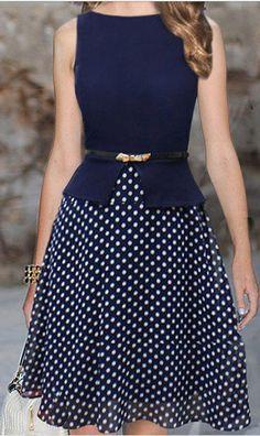 polka dot skirt dress