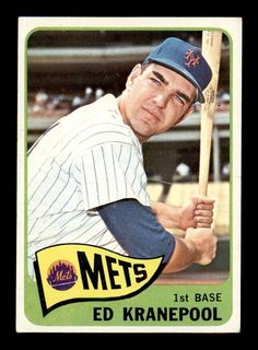 1965 Topps Ed Kranepool Baseball Card for sale online Pittsburgh Pirates Baseball, Mets Baseball, Baseball Players, Ny Mets, New York Mets, Lets Go Mets, Baseball Cards For Sale, My Dream Team, Sports Stars
