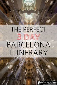 Visiting Barcelona? This 3 day itinerary for Barcelona has you covered, with all the top attractions from the works of Gaudi to museums and more. There are also tips on saving money, advice on finding accommodation, practical tips for your visit, and much more!:
