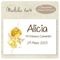 Tarjeta Pinza para detalle Primera Comunión - C06053TP Place Cards, Place Card Holders, Signature Book, First Holy Communion, Invitations