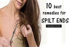 Split ends are a very common problem nowadays and they are caused when the outer protective layer of hair is damaged. Using too much heat and exposure to sun can also be reason for split ends. Coconut Oil Hair Treatment, Coconut Oil Hair Mask, Coconut Oil For Skin, Best Beauty Tips, Beauty Hacks, Real Beauty, Natural Hair Care, Natural Hair Styles, Split End Remedy