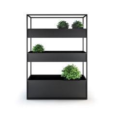 Planter Carl planteringsbox - anthracite, 1400 3 boxes