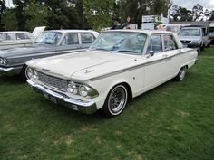 1962 Ford Fairlane... first car my brother bought (in the early 70's). If I remember, he paid a couple of hundred for it. (Not as spiffy as this one though)