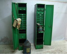 Industrial lockers with interior