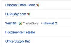 Trusted Stores status now on Google Shopping Comparison pages!