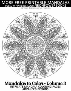 free intricate mandala coloring pages for adults paperback copy with 50 unique intricate mandala coloring