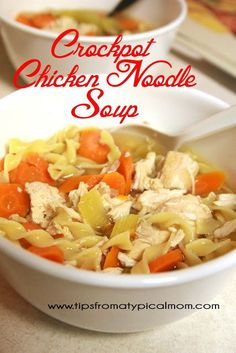 Tips from a Typical Mom: Crockpot Chicken Noodle Soup Recipe from Tanya Meyer (ProverbialHomemaker.com)