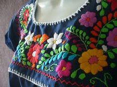 como hacer bordado mexicano - Buscar con Google
