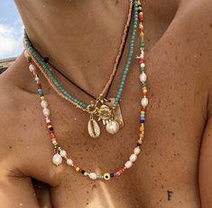 Bead Jewellery, Beaded Jewelry, Jewelery, Jewelry Necklaces, Beaded Choker Necklace, Diy Necklace, Cute Jewelry, Jewelry Accessories, Accesorios Casual