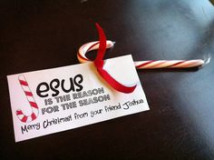 Jesus is the Reason Candy Cane Printable